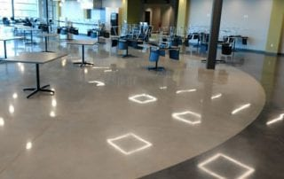Zeeland Polished Concrete Cafeteria with Dye