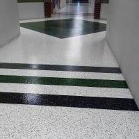 School Hallway Vinyl Chip Application