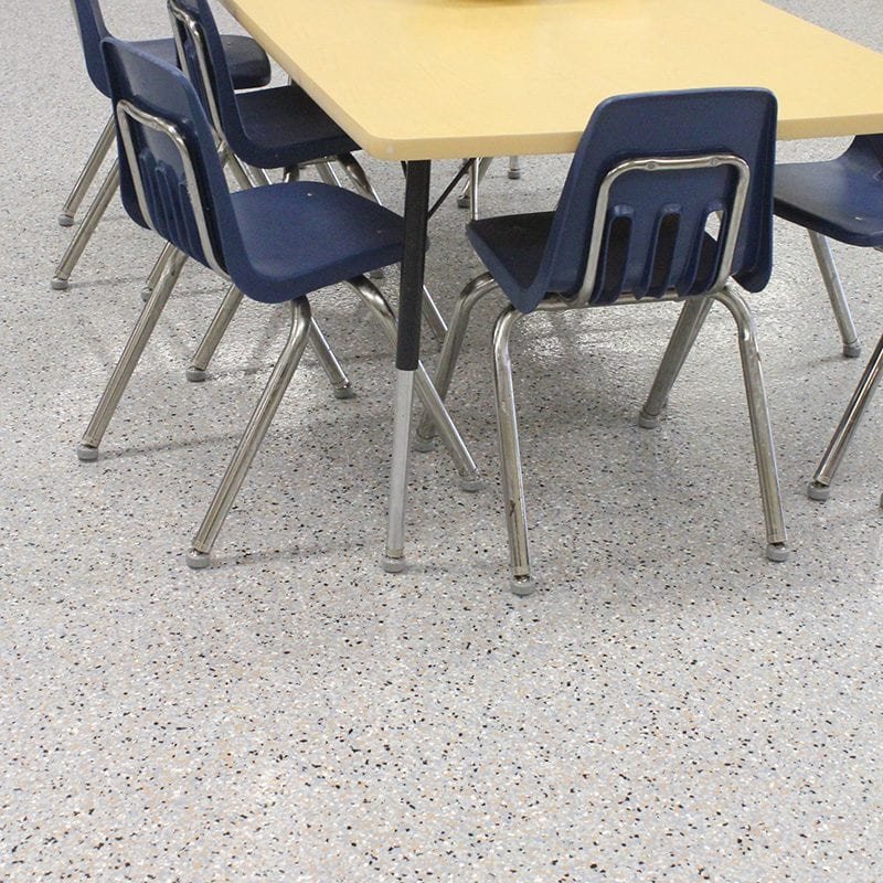Allegan Floor Coating Installation - Classroom