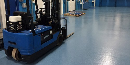 Non-Slip Textured Industrial Floor Coating Installation