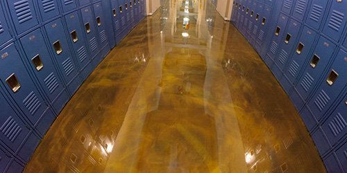 Decorative, Easy To Clean School Floor Coatings