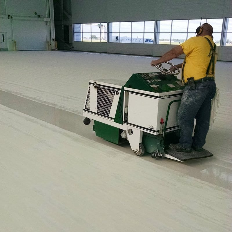shotblasting to prepare for concrete coating