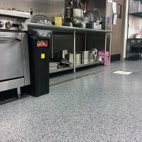 Easy to clean seamless flooring in Holland