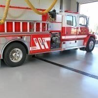 Durable fire station floor coating - quartz