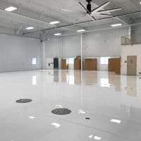 Traverse City airplane hangar flooring