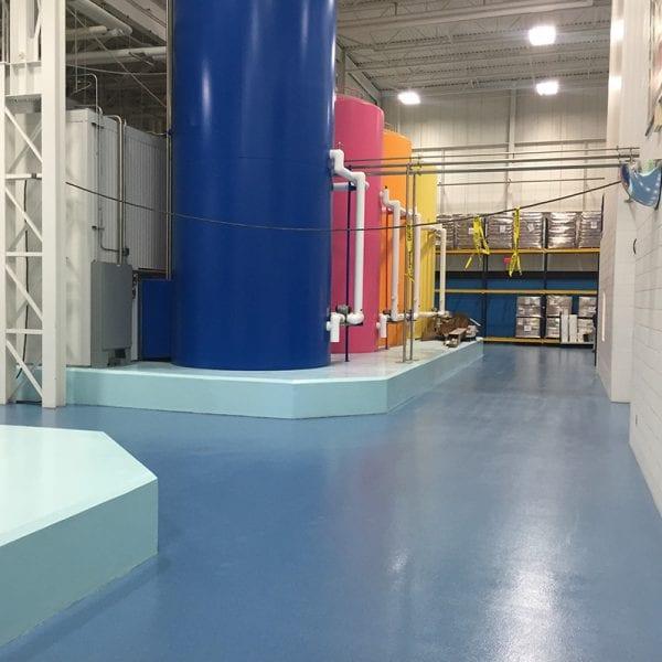 Textured industrial floor coating in Holland