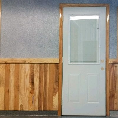 Vertical coating samples Hudsonville showroom