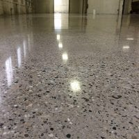 Medium aggregate polished concrete