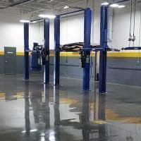 Durable concrete flooring
