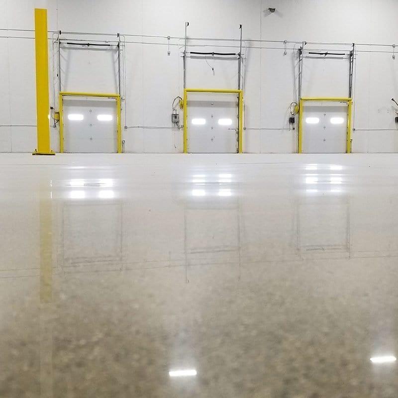 Low maintenance polished concrete Grand Rapids