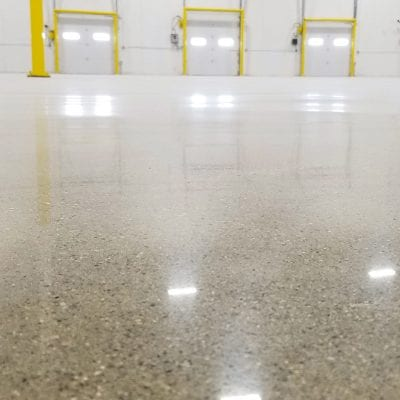 Warehouse industrial polished concrete