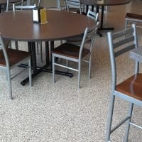 Easy to clean Grand Rapids cafeteria floor coating