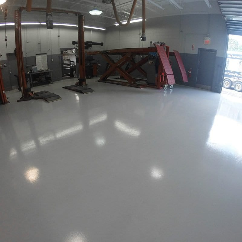 Service Bay Epoxy Coating Grand Rapids