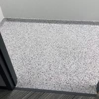 Grand Rapids seamless bathroom floor coating