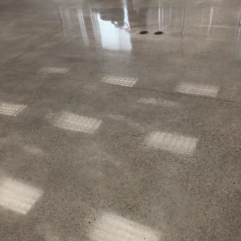 Grand Rapids salt and pepper polished concrete