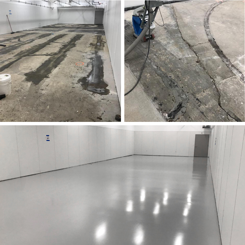 Before and After Epoxy Coating
