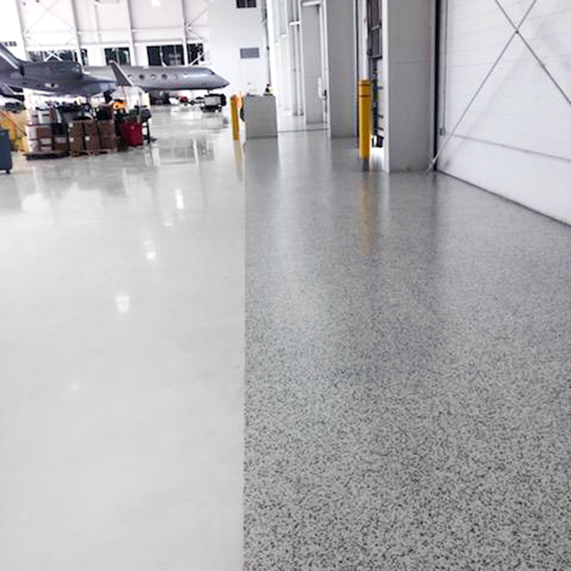 MI Airplane Hangar Floor Coating