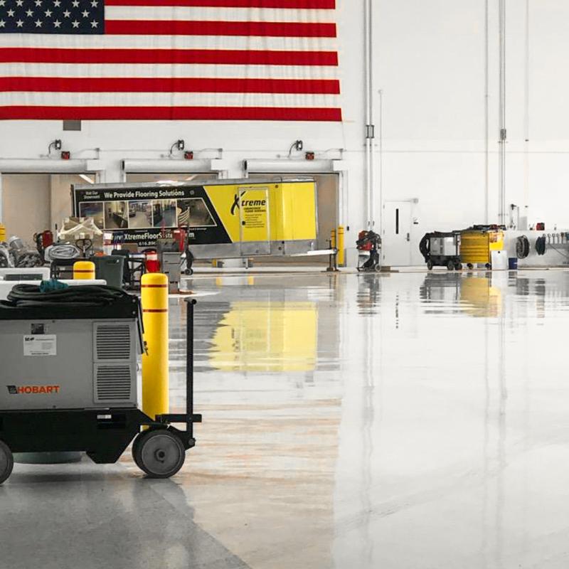 Xtreme Airplane Hangar Flooring Install
