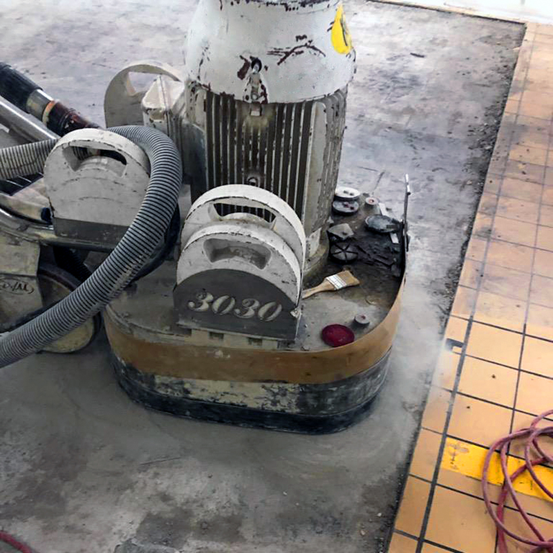 Grinding off Tile Grout